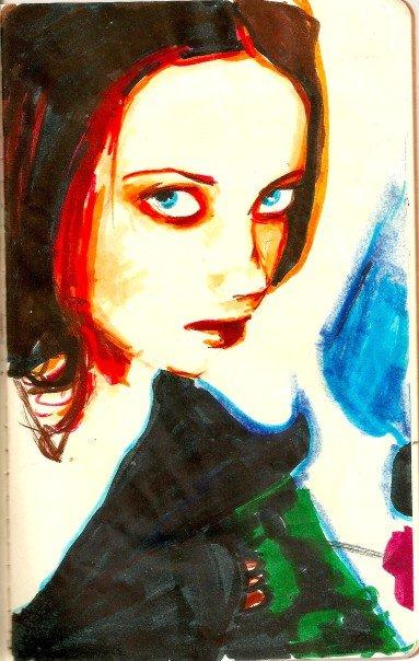 Crayola Marker Portrait